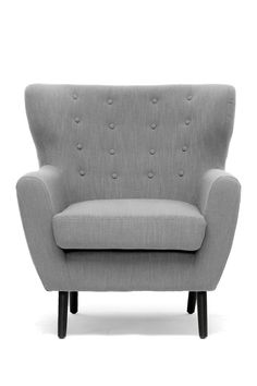 Lombardi Light Gray Linen Modern Club Chair