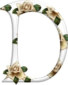Cute Alphabet, Alphabet And Numbers, Letter D, Letter Writing, Beautiful Lettering, Ivory Roses, Rose Buds, Bunt, Initials