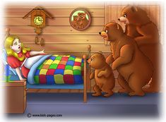Goldilocks and the Three Bears 7 Goldilocks And The Three Bears, 3 Bears, Kids Pages, Stories For Kids, Tigger, Scooby Doo, Winnie The Pooh, 3 D, Fairy Tales