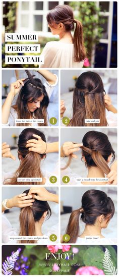 Step by Step Summer Perfect Ponytail for those hot days or second day hair! Luxy Hair, Mimi Ikonn, Easy and Cute Ponytail hairstyle See the video here: https://www.youtube.com/watch?v=MTUaehRog2klist=UUJqcphJAnsD5YDXcRFzTsOw