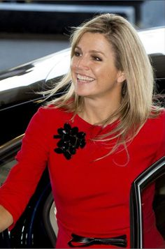 Queen Maxima attended a conference on entrepreneurship which was held at the Grand Hotel Noordwijk.