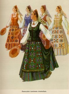 Beautiful Lithuanian traditional costumes! Would you like to have one?    #vilnius #lithuania www.vilnius.com