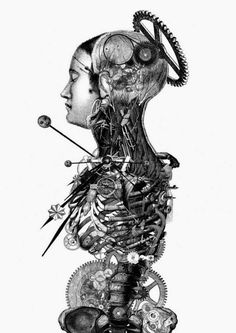 #Engraving and #Collage by Paula Braconnot #illustration