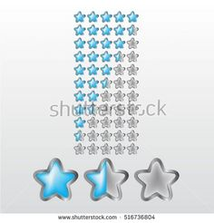 Feedback vector concept. Rank, level of satisfaction rating. User experience. Customer feedback. Review of consumer. feedback in form of light blue and metal stars