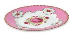 Pink Floral Plate. www.standun.com