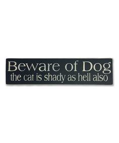 Sara's Signs Wood 'Beware of Dog' Wall Sign