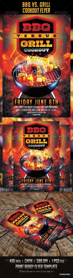 BBQ Party Flyer Template PSD Party flyer, Flyer template and - bbq flyer