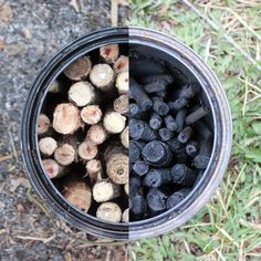 Learn how to make charcoal sticks for creating works of art using a new paint can, a campfire, and s