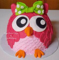 Owl Smash Cake - by SugarSweetCakes @ CakesDecor.com - cake decorating website