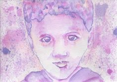 Migration Child Portrait :: Original Artworks by Jules Artvan :: from the artist to your letter box