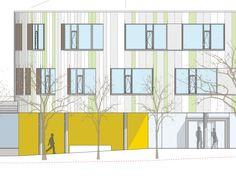 Imagem 12 de 12 da galeria de Ampliação da Escola Laupheim / Herrmann + Bosch Architekten. Fachada