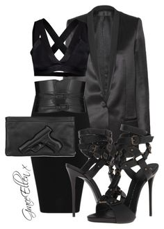 Untitled #42 by miss-grace-ellen on Polyvore featuring polyvore fashion style Haider Ackermann Y.A.S Giuseppe Zanotti Vlieger & Vandam Yves Saint Laurent clothing
