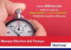 El manejo efectivo del Tiempo nos permite simplificar nuestras vidas...