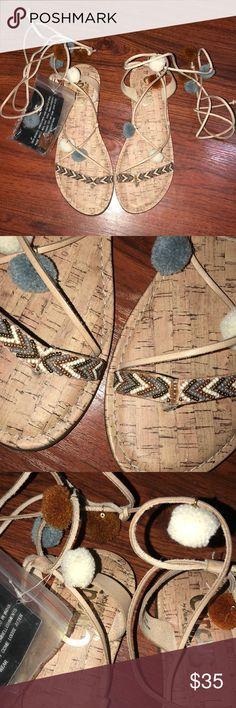 788f7c44a3a1d San Edelman Circus Pom Pom Sandals Size 8.5 brand new Pom Pom Sandals.  Super cute
