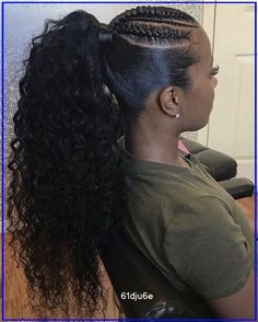 Black Ponytail Hairstyles, Hair Ponytail Styles, Sleek Ponytail, African Braids Hairstyles, Fringe Hairstyles, Curly Hair Styles, Natural Hair Styles, Everyday Hairstyles, Prom Hairstyles