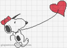 Snoopy flying heart