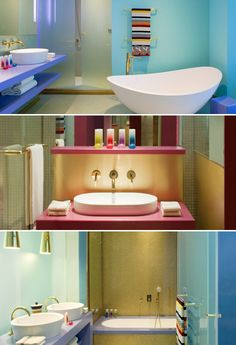 colourful bathroom designs  Hotel Missoni Kuwait