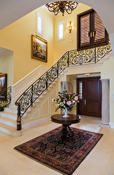 Beautiful foyer and staircase.