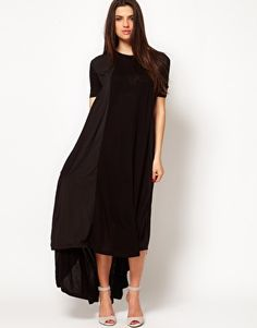 £35.00 Enlarge ASOS Maxi Dress In Jersey And Woven Mix