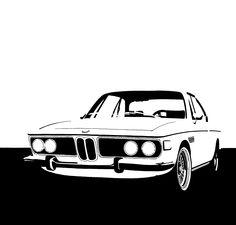 #BMW #3.0 #CSL #classic #tegnepeter #illustration #heydenreich