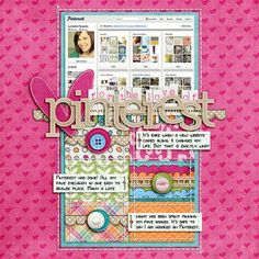 a digital scrapbooking layout about Pinterest.