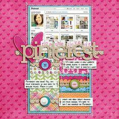 a digital scrapbooking layout about Pinterest.