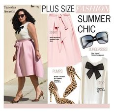Plus Size Fashion-Summer Chic by kusja on Polyvore featuring ASOS, Christian Dior, Forever 21, StreetStyle, BloggerStyle, plussize and plussizefashion