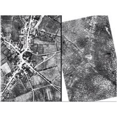 Before and after photos of Passchendaele WW1.