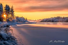 ***Winter sunset (Finland) by Asko Kuittinen ❄️c. Winter Szenen, Winter Sunset, Landscape Pictures, Nature Pictures, Helsinki, Beautiful Places, Beautiful Pictures, Winter Beauty, Heaven On Earth
