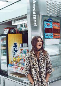 Leopard faux-fur coat | MANGO