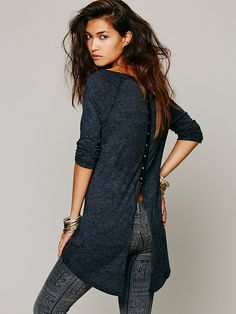 Free People We The Free Snap Top, $78.00.....very unique clothing at their webside.....love