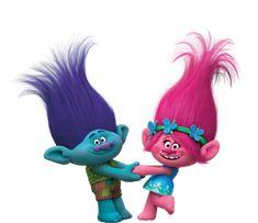 Imagens Poppy e Tronco trolls,imagens dos trolls o filme, fotos do desenho trolls imagens trolls png, fotos de trolls, trolls dreamworks,