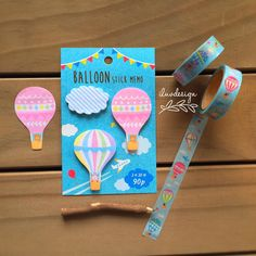 Hot Air Balloon Sticky Notes are ideal for jazzing up school projects, posting pictures in lockers or adding a whimsical touch at the office. Ideal for book marking, highlighting, indexing and page ma