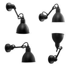 Weiße Wandleuchte N° 304 mit Kupfer-Schirm *Die Wandleuchte ist dank Kugelgelenk nach allen Richtungen flexibel einstellbar (hier als Beispiel das schwarze Modell)