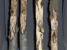 Carving a Wood Spirit for a Walking Stick  with Allen Goodman