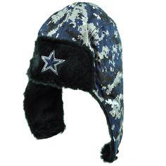 NFL Dallas Cowboys Aviator Bomber Fur Ear Flap Digital Camo Camouflage Hat  Wint  DallasCowboysAuthenticApparel   abd890ac7789