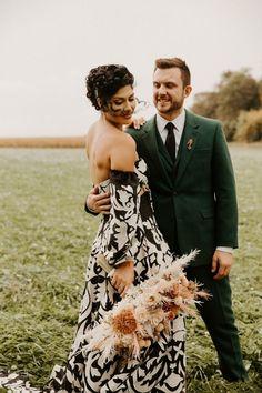 Bold boho outdoor wedding portrait   Image by Erika Diaz Photography Wedding Blog, Wedding Styles, Eclectic Wedding, Bohemian Wedding Inspiration, Portrait Images, Erika, Wedding Portraits, Floral Tie, Boho
