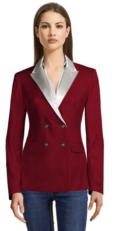 Red Corduroy Blazer with White Shiny Lapels Blazers For Women, Suits For Women, Corduroy Blazer, Lapels, Tuxedo, Brand New, Female, Womens Fashion, Clothing