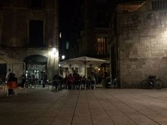 Cafe de l'Academia - Barcelona, Spain. The  courtyard seating