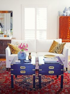 A Kansas Home Filled with Color and Pattern | living room