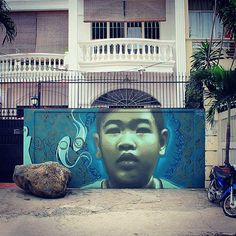 El Mac x Shamsia Hassani New Mural In Saigon, Vietnam
