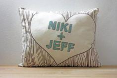 Custom Postcard Names Pillows