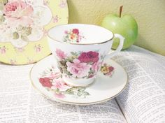 Rose Pattern Golden Crown Fine Bone China by MoreThanTreasures, $12.95 I love the plate in the background!