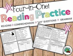 """Save paper with this """"All-in-One"""" page reading comprehension practice! $"""