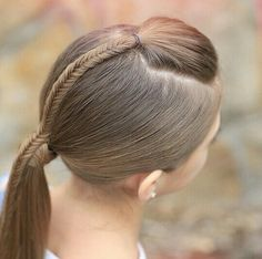 Fishtail Accented Ponytail Hairstyles For Sports Cute Girls Girls Hairdos, Cute Girls Hairstyles, Ponytail Hairstyles, Pretty Hairstyles, Braid Ponytail, Braids, Hairstyles Haircuts, Toddler Hair, Love Hair