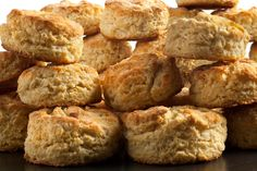 An easy recipe for fluffy buttermilk biscuits made with all-purpose flour and butter, and ready to serve with fried chicken or gravy.