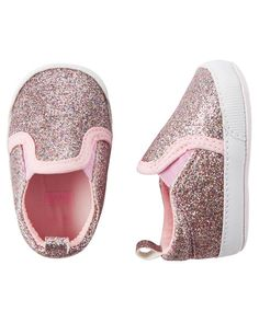 Carter's Glitter Slip-On Crib Shoes
