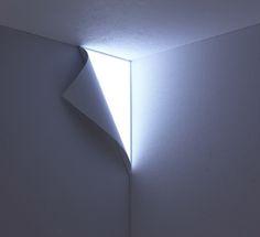 トリックアートのような照明 Peel