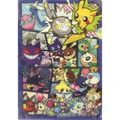 Pokemon Center 2017 Pokemon Pop Campaign Mimikyu Pikachu Shuppet Goomy Sableye & Friends A4 Size Clear File Folder (Version #1)