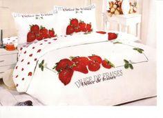 AlyShop: Lenjerie de pat din bumbac satinat Le Vele - Strawberry